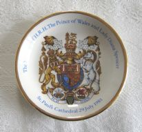 zz Royal Wedding (Prince Charles and Lady Diana, 1981) commemorative pin dish by Wood & Sons (SOLD)